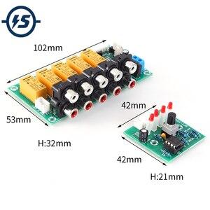 Аудио усилитель звука, Селекторный Модуль входного сигнала 4 в 1, реле, звуковая коммутационная плата, реле, выбор модуля видеосигнала