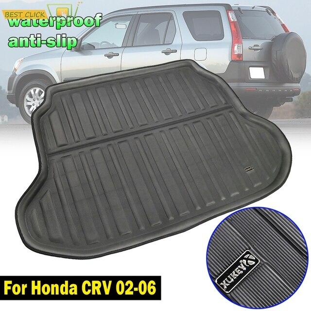 Accessories For Honda CR-V CRV 2002-2006 Rear Trunk Tray Cargo Boot Liner Mat Floor Protector Carpet Mud Kick 2003 2004 2005