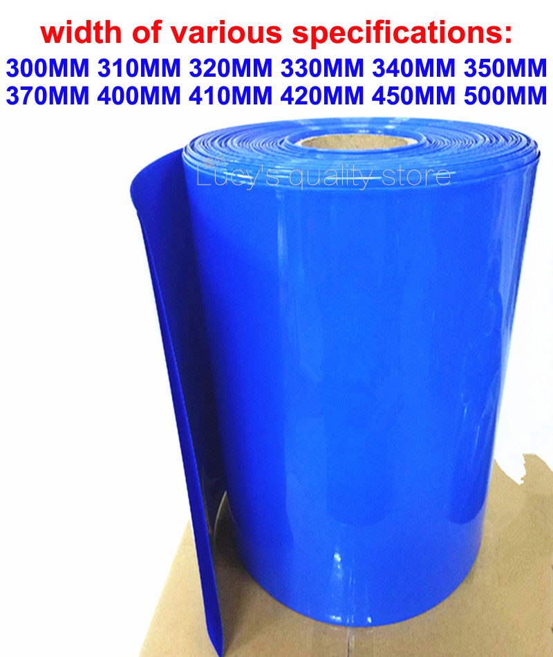 1kg Variety of specifications width battery pack PVC heat shrinkable film casing 18650 lithium battery shrink