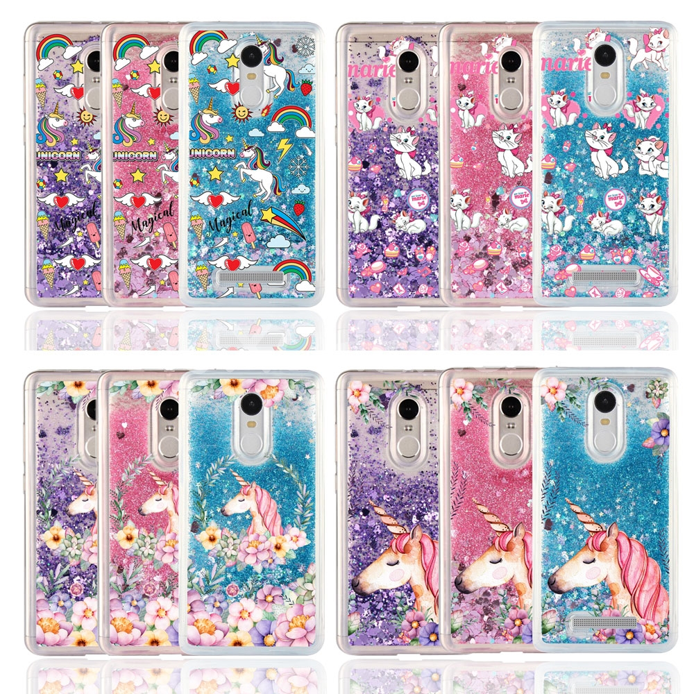 Phone-Case Unicorn Ice-Cream Xiaomi Redmi Horse-Marie Cover Water-Liquid 5plus Cartoon
