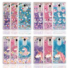 Cartoon Water Liquid Phone Case for Xiaomi Redmi Note 2 3 3S 3X 4X 4A 5A 5Plus 4Pro Ice Cream Unicorn Horse Marie Cat TPU Cover(China)