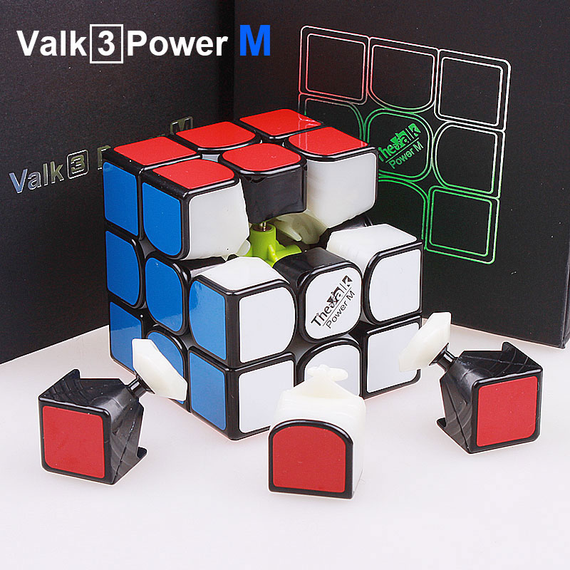 Qiyi The valk 3 power M magnetic Magic Speed Cube 3x3x3 Professional valk3 magnets Puzzle Cubo Magico Toys For Children