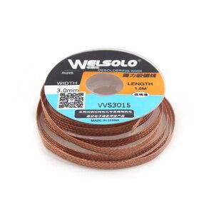 Image 2 - 1.5m/5ft  Width  1.5/2/2.5/3/3.5mm Solder Wick Remover Desoldering Braid Solder Remover Sucker Flux Wick Cable Wire 2018 Hot