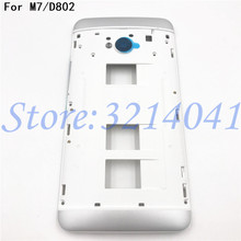 Original New 4.7 inches Front Bezel Housing LCD Frame For HTC One Dual Sim 802t 802d 802w M7 Faceplate