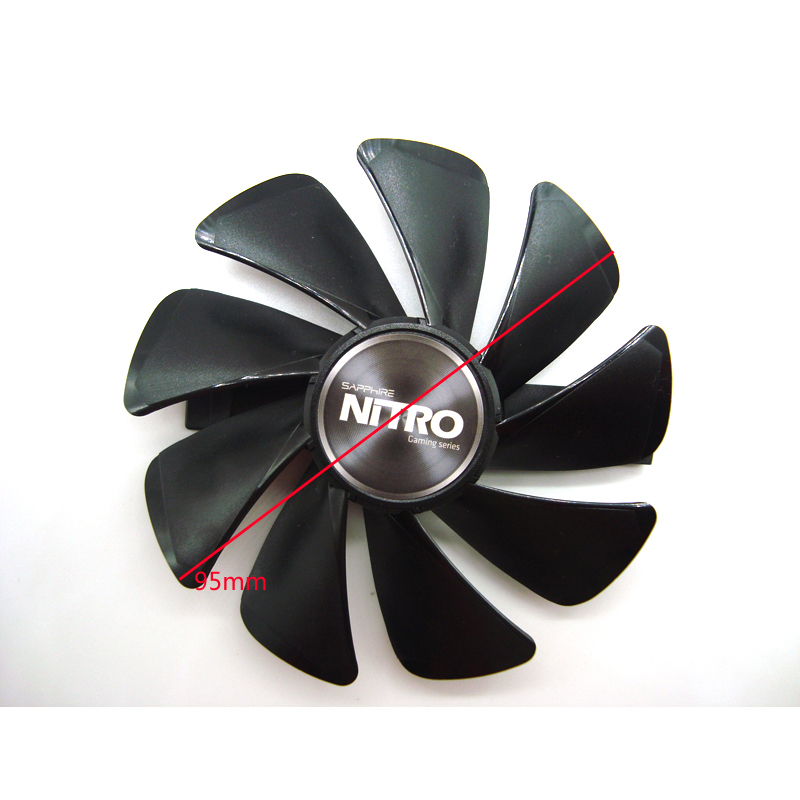 Free Shipping 95mm CF1015H12D DC12V Cooler Fan Replace for Sapphire NITRO RX480 8G <font><b>RX</b></font> <font><b>470</b></font> <font><b>4G</b></font> GDDR5 RX570 <font><b>4G</b></font> / 8G D5 RX580 8G OC image