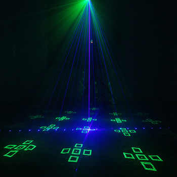 2018 New Arrived RGB Disco Party Light Multi Pattern Luces Discoteca Stage Spotlight Sound Active Laser DJ Equipment For Sale