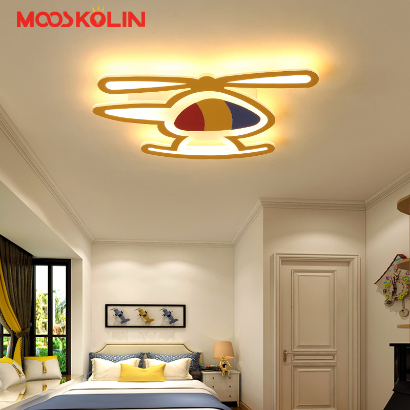 Cartoon plane Led Ceiling Lights Modern Bedroom Ceiling Lamp for Children Kid's Room Home Indoor Lighting Decoration Fixture creative cartoon ceiling lamp smd led electrodeless dimmable air plane shape light study children boy girl room bedroom