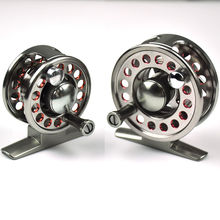 2+1 BB Aluminum Alloy Fly Fishing Reel Line Wheel with Drag Right / Left Handed