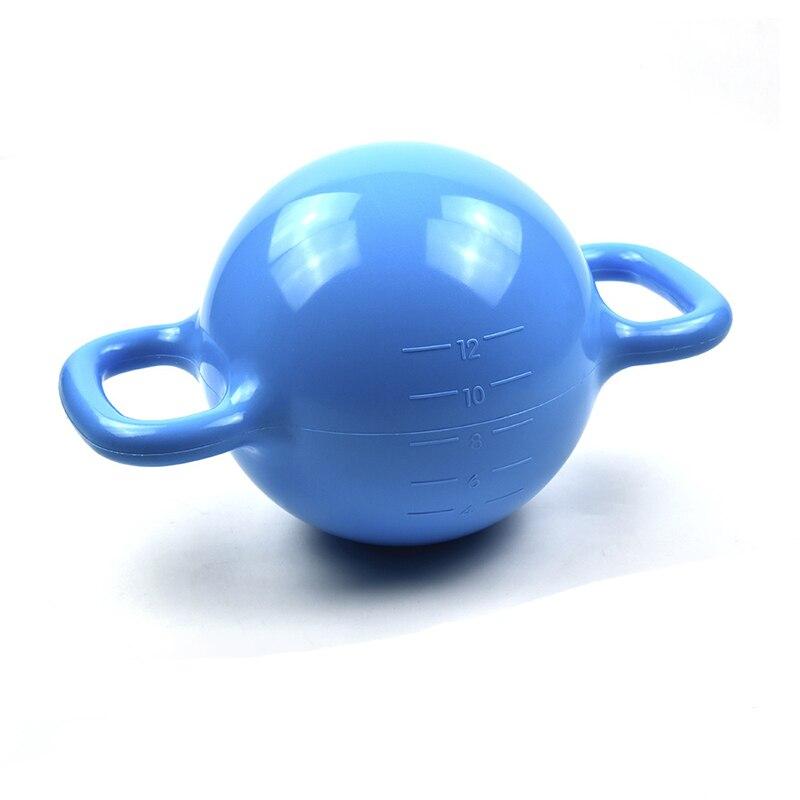 Conception créative 12LB haltères remplis d'eau poids réglable Kettlebell Fitness en plein air grande capacité Gym équipement de sport
