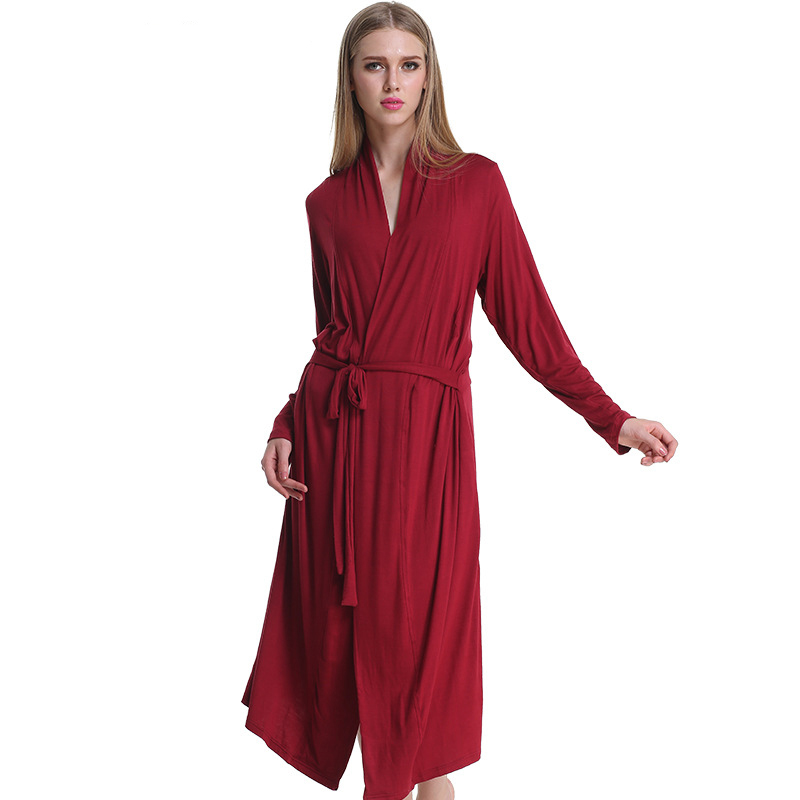 High Quality Women Plus Size Modal Cotton Bathrobes Long -9236