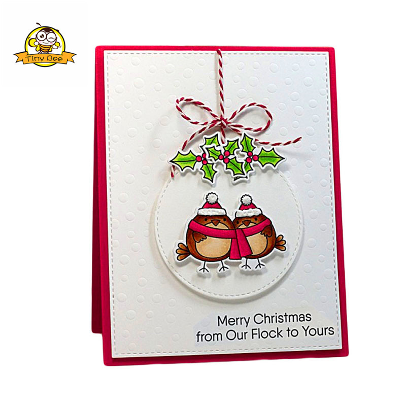 Merry Christmas Silicone Stamp Embossing Scrapbooking Stencil Craft DIY Card Crafts Dies Album Handmade Christmas Decor in Cutting Dies from Home Garden