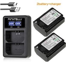 2 pcs Battery NP fz100 npfz100 LED Battery + Charger Dual USB Charger for a7r3 a7m3 7rm3 BC - qz1 A9, Sony, a7riii a7m III, IL цена
