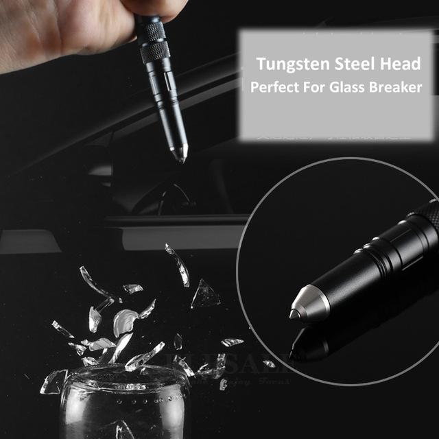 Outdoor EDC Multi-Function Self Defense Tactical Pen Emergency Led Light Strobe Bottle Opener Glass Breaker Survival/Self Defense tool