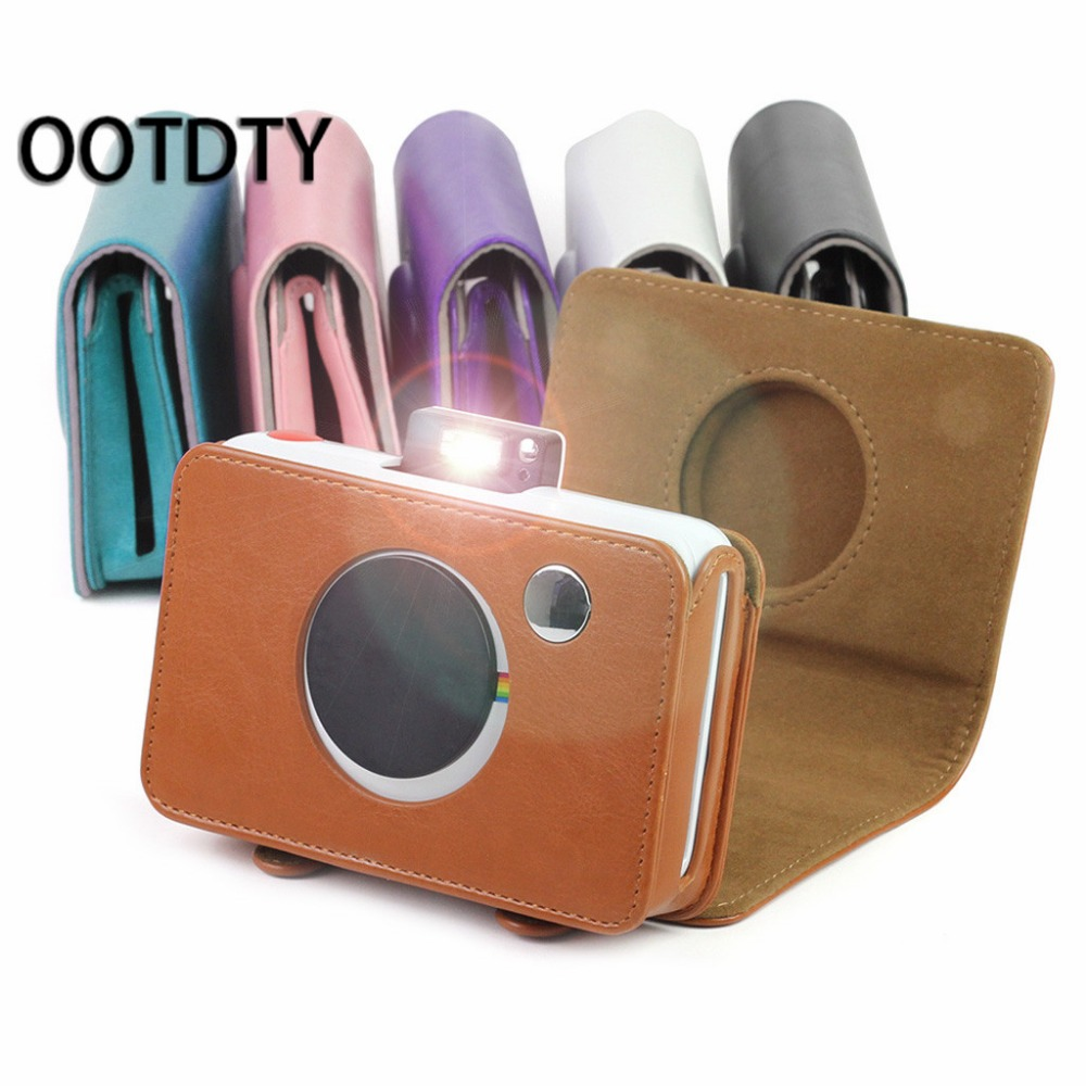 1 pc Colorful PU Leather Bag Camera Retro Protective Case Cover For Polaroid Snap Touch Model Cameras