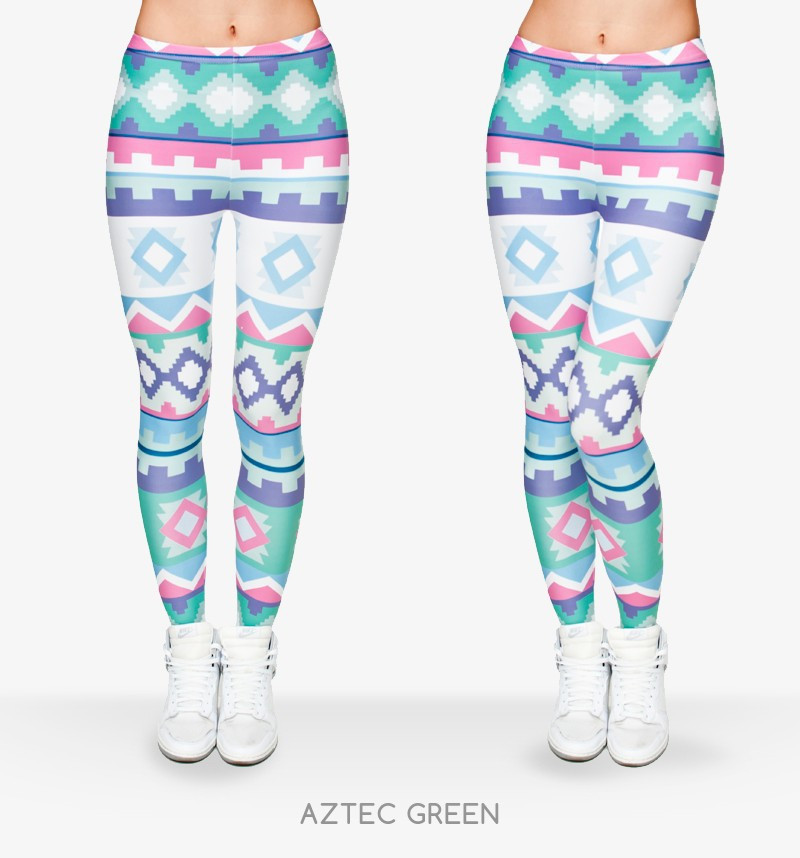 Zohra Brand New Fashion Aztec Printing legins Punk Women's Legging Stretchy Trousers Casual Slim fit Pants Leggings 6