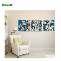 HOMLIF 3d diy pintura diamante bordado casa decoração pintura de parede de mosaico diamante pintura Árvores florescem