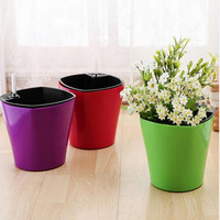 New Automatic Irrigation Watering Flower Pots Plastic Pots For Plants With Water Level Gauge Home Garden