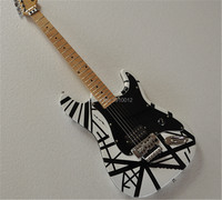 High quality factory custom Black and white stripes pattern Charvel 6 string electric guitar