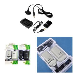 Image 2 - ダブル充電式バッテリー + usb 充電ケーブルパック xbox 360 ワイヤレスコントローラ