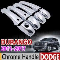 For Dodge Durango 2011 2017 Luxurious Chrome Handle Cover Trim Set 2012 2013 2014 215 2016
