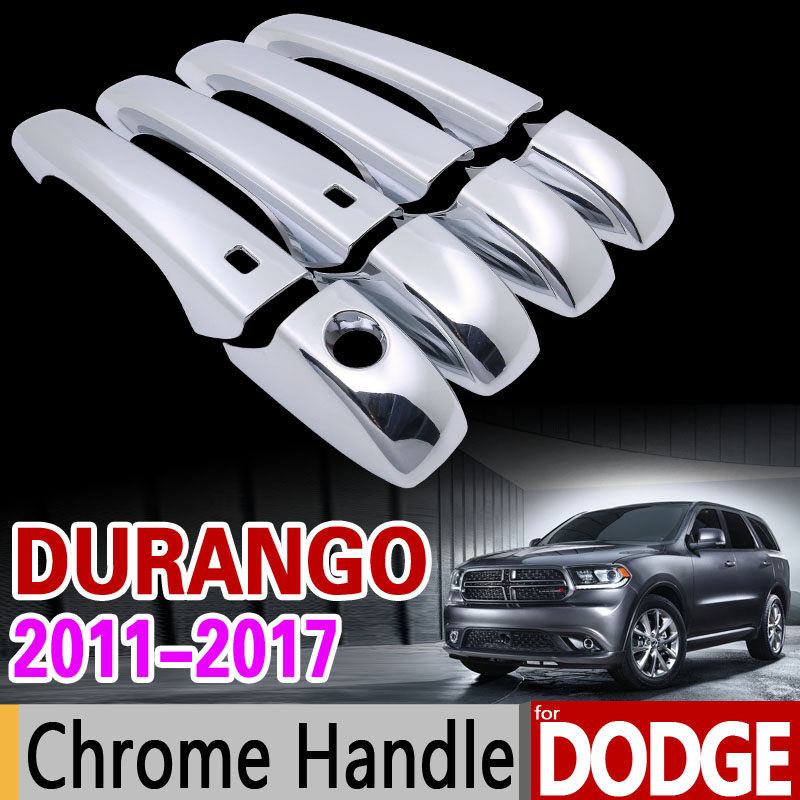 for Dodge Durango 2011-2017 Luxurious Chrome Handle Cover Trim Set 2012 2013 2014 215 2016 Car Accessories Sticker Car Styling for suzuki splash 2007 2014 chrome handle cover trim set of 4door 2008 2009 2010 2011 2012 2013 accessories sticker car styling