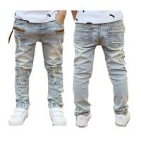 Jeans Dei ragazzi 2017 di Autunno della Molla di colore chiaro di buona qualità jeans per ragazzi fashion style pantaloni dei bambini 3to 12 anni vecchio B131