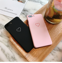 Cute Love Heart Print Back Cover For iPhone X 7 6 6S Plus 5 5S SE Phone Case Hard PC Cases Coque For iPhone 8 8 Plus mobile phone case simple finger ring holder for iphone 8 case hard coque for iphone 5s se 6s 6 plus 7 plus 8 plus 5 back cover