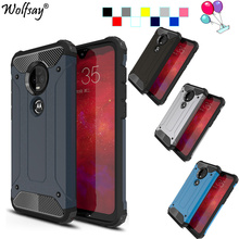 sFor Motorola Moto G7 Plus Case TPU +PC Shockproof Housings Hybrid Armor Full Cover For