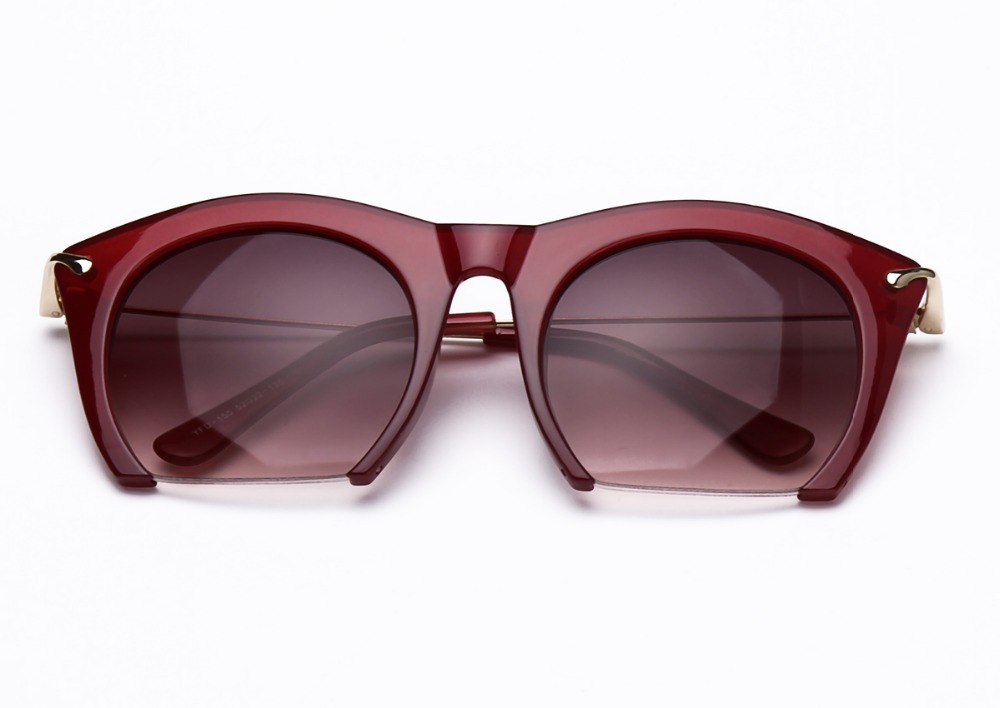 Half Rim Sunglasses  online brand half rim sunglasses cat eye sun shades lenses