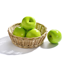 6pcs Artificial Green Apples Fake Fruit Painting Model Home Decoration Photography Props Apple