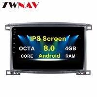 10.2 inch Android8.0 7.1 Car Radio Player GPS Navi For Toyota Land cruiser LC 100 2003 2008 Multimedia Satnav Headunit No DVD