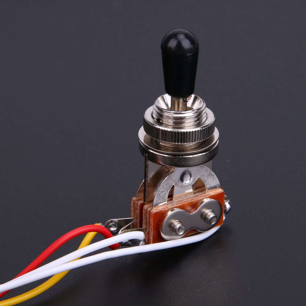 Guitar Wiring Harness With 2V/1T 3way Chrome Box Toggle Switch and a ...