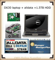 2019 alldata repair software 2014 V10.53 all data and mitchell on demand auto software+1.5tb HDD+d630 laptop diagnostic tools