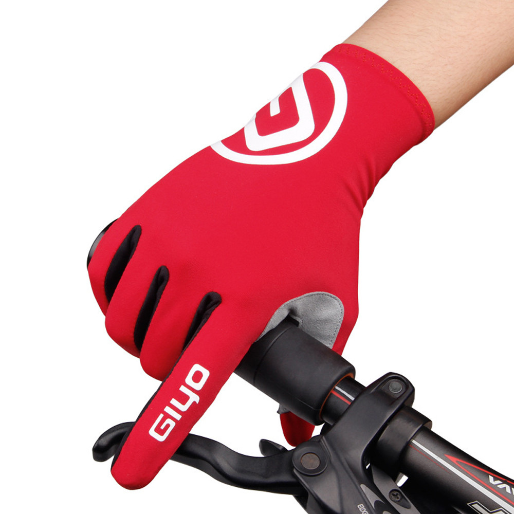 GIYO Breathable Cycling Gloves Sliding Screen Anti Slip Gel Pad Road Bike Full Mountain Bi