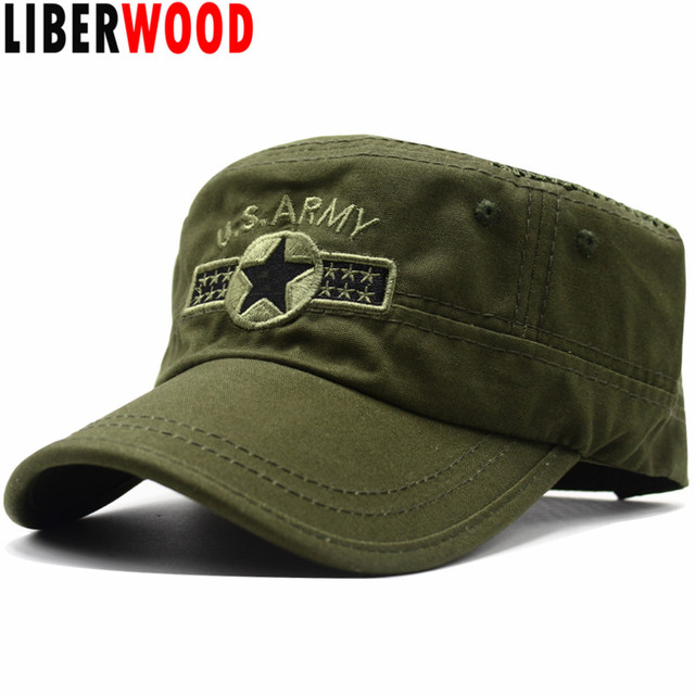 3ead3e804ed LIBERWOOD US ARMY US Air Force Mesh Baseball cap USAF CORPS Hat Embroidery  Cotton Cap Camo Camouflage Men Summer Flat Top Hats. 1 order