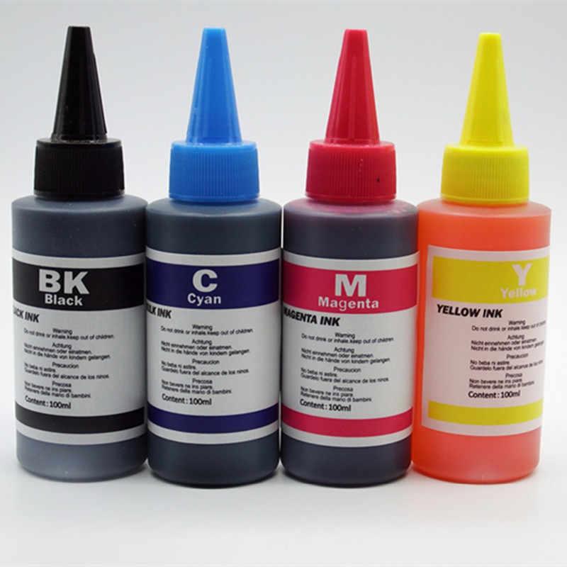 Kit de tinta colorante especializada para todas las impresoras 2, negro, 100ml/botella, recarga de tinta Ciss de alta calidad con Color vivo sin enchufe