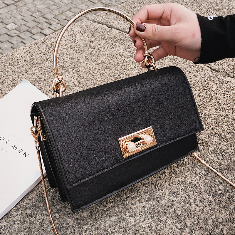 2019 Bling Sequin Luxury Brand Bags for Women Small Golden Chains Flap Crossbody Shoulder Bags Silver Black Pink Messenger Bags