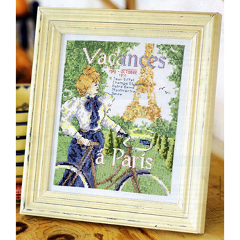 Counted Cross Stitch Kit Eiffel Tower precision printing cloth vacances a paris Needlework,Cross stitch,Sets For Embroidery kits ...