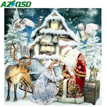 AZQSD Christmas Diamond Painting Cross Stitch Embroidery Santa Claus Full Square Picture Of Rhinestones Handmade