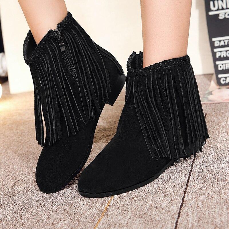 Tamaño Tobillo Franja Otoño 3 Nuevo 33 Y Botas Mujer Pisos 42 Más 2018 Invierno Moda Color Zapatos Cortas Cómodos Mujeres PqwpwvE