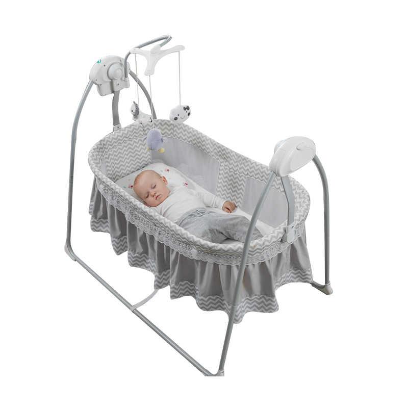 Crib Electric Cradle Sleep Basket Swing Bed 0 36 Month Baby Intelligent Sleep Shake Bed To Sleep Baby Sleep Helper Baby Nest Aliexpress