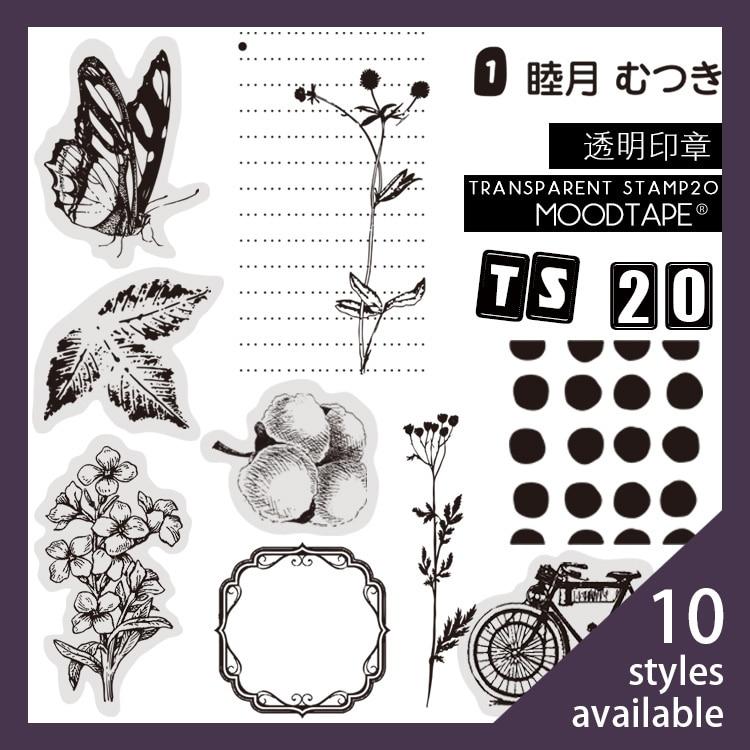 Moodtape Vintage Clear Stamp For DIY Scrapbooking/photo Album Decorative Transparent Stamp Label Frame Flower Plants Stamp Seal