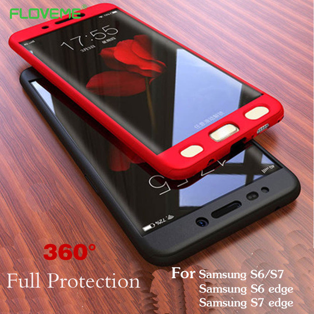 buy popular e681f 868ba US $2.99 40% OFF|FLOVEME 360 Full Body Case For Samsung Galaxy S7 S6 Edge  Luxury Hybrid Cover For Samsung S6 S7 Edge Ultra Thin Capa Shell Fundas-in  ...