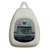 Az8835 Портативный ЖК дисплей Дисплей USB Температура влажность Регистратор данных внешнего датчика Регистраторы с тревогой ручной
