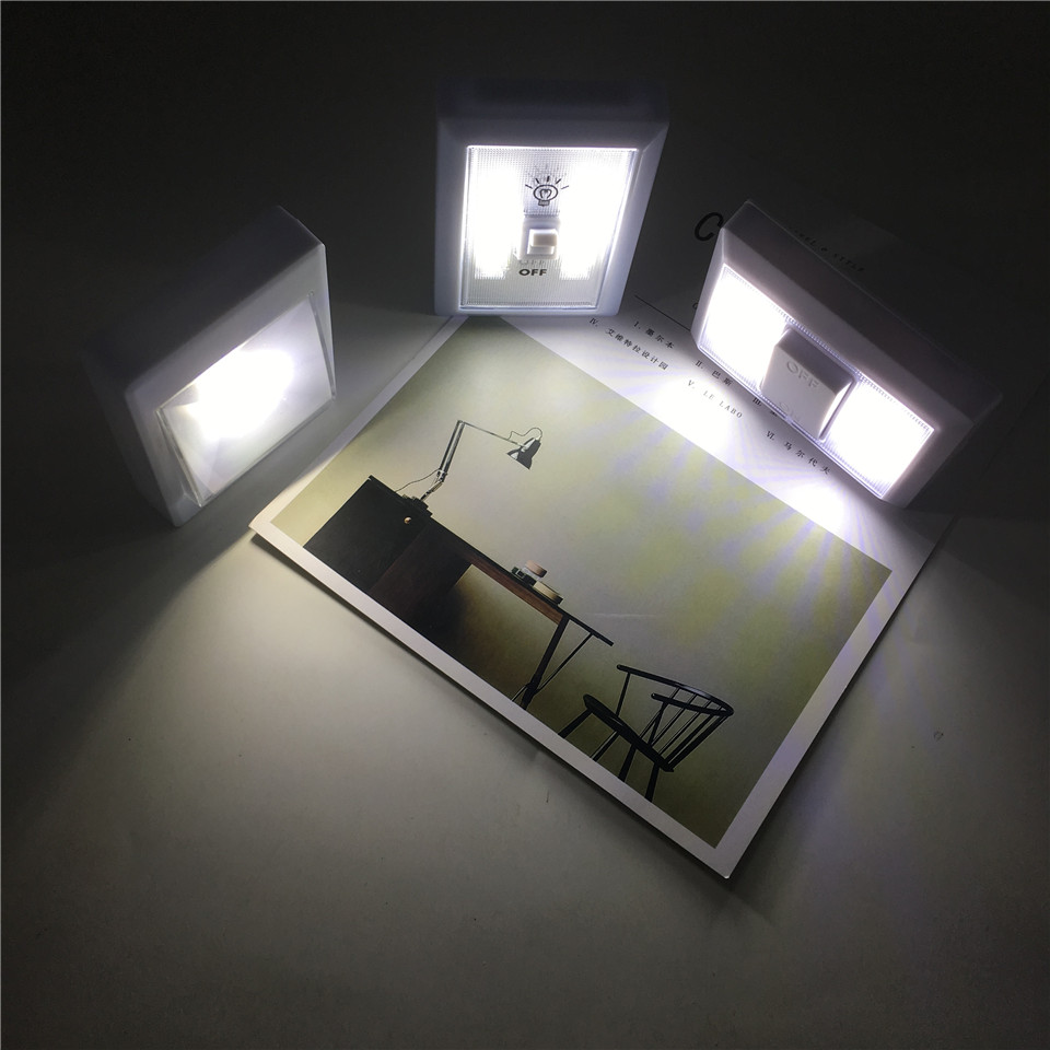 Garage Lights That Come On At Night: New Wireless COB LED Switch Wall Night Lights Cordless