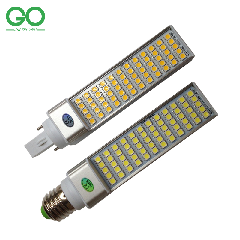 LED Corn Bulbs 12W G24 PL PLC Lamps Bombillas Light SMD 5050 Spotlight 180 Degree AC85-265V Horizontal Plug Lights lole капри lsw1349 lively capris xl blue corn
