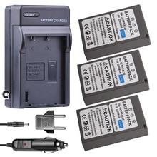 3x BLS-5 BLS50 BLS-50 2200mAh BLS5 battery + Car Charger for OLYMPUS EP1 PL2 PL5 PL6 E-PL7 E-PM2 E450 E600 E620 Stylus EM10
