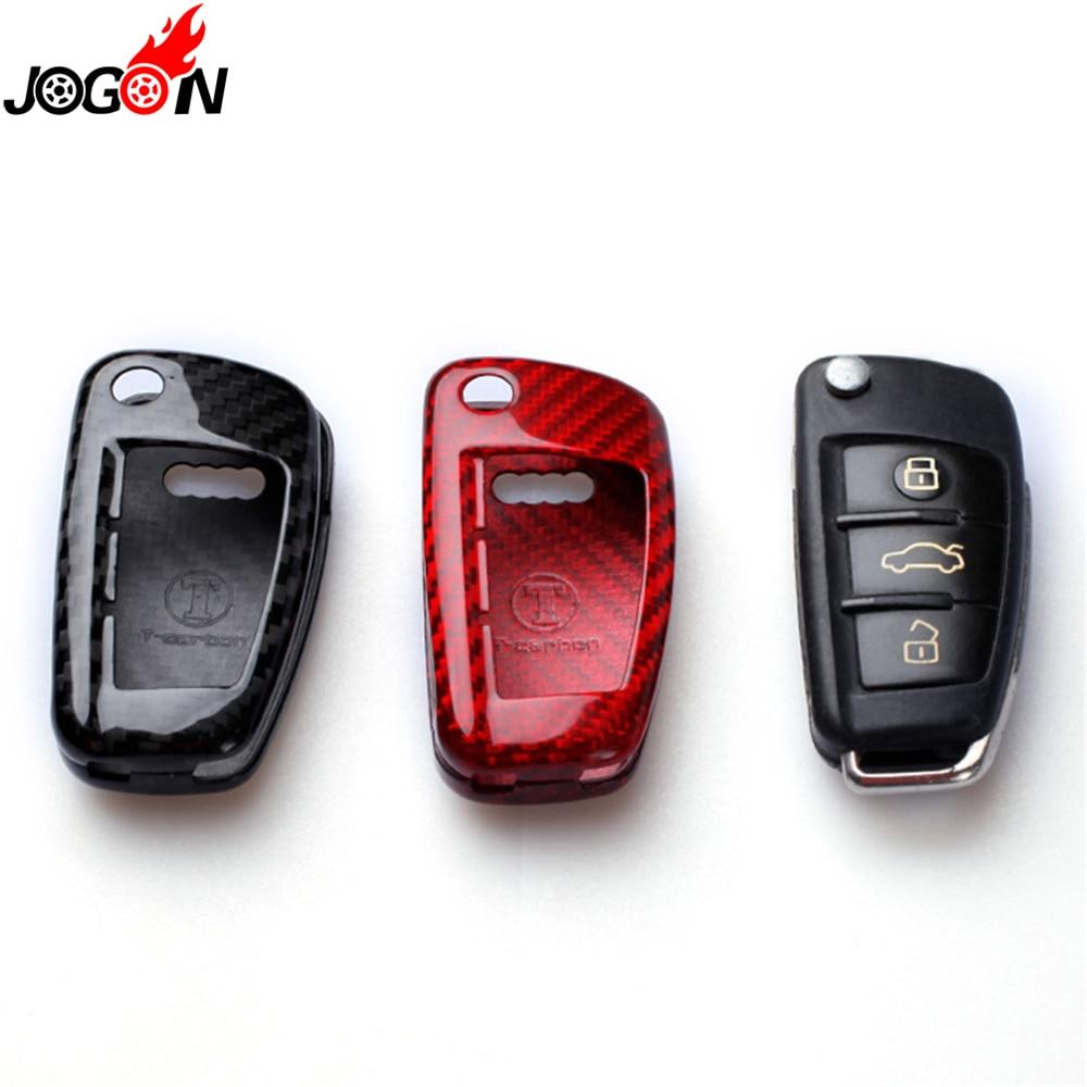где купить Carbon Fiber Remote Fold Key Case Shell Cover For Audi A1 S1 A3 S3 8P 8V RS 3 A4 B6 B7 A6 S6 C6 Q2 Q3 8U Q7 R8 TT S RS 8J дешево