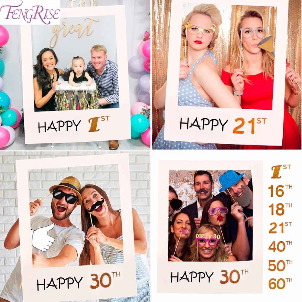 Fengrise 30th 40th 50th 60th Photo Booth Marcos Feliz cumpleaños ...