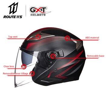 GXT Motorcycle Helmet Half Face ABS Motorbike Helmet Electric Safety 1